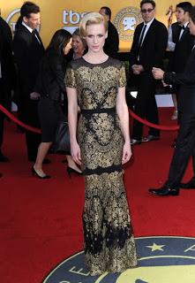 Get The Look: January Jones At The 2011 SAG Awards