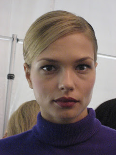 Plummy Tones Backstage At Carolina Herrera