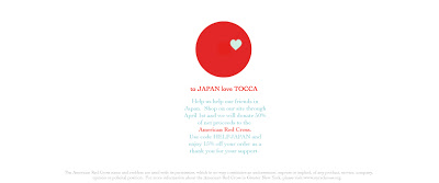 Tocca Supports Relief Efforts In Japan