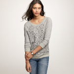 LUST: JCrew Haya Bead And Sequin Sweatshirt