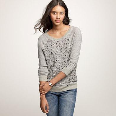 LUST: JCrew Haya Bead And Sequin Sweatshirt