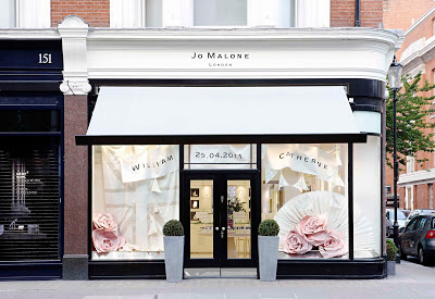 Jo Malone's Sloane Street Boutique Celebrates 'Wedding Window' For Prince William And Kate Middleton