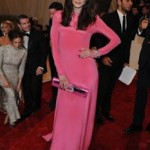 Michelle Monaghan Pairs A Black Manicure With a Bright Pink Dress