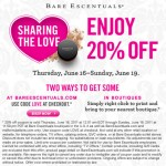 20% off Bare Escentuals
