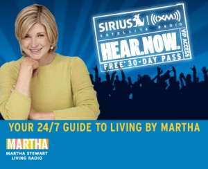 Catch Me On The Martha Stewart Sirius Station Tomorrow!