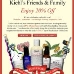 Kiehl's Friends and Family Sale