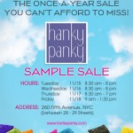 Hanky Panky Sample Sale: Save The Date