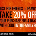 Shopbop Friends & Family Sale Code
