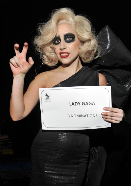 Lady Gaga Wears Carolina Herrera For The Grammy Nominations Concert