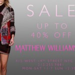 Matthew Williamson Sample Sale