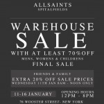 All Saints Warehouse Sale