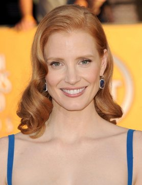 SAG Awards 2012 Hairstyle: Jessica Chastain
