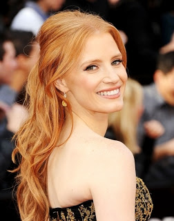 2012 Oscars Beauty: Jessica Chastain's Hairstyle