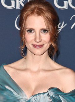 Get The Look: Jessica Chastain At The Hollywood Reporter's Nominees' Night 2012