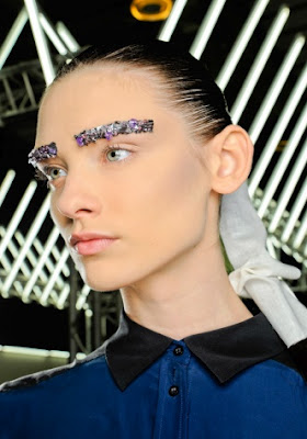 Paris Fashion Week Fall 2012 Beauty Update: Glittering Eyebrows At Chanel