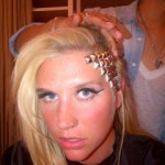 Ke$ha's Gold Studded Hairstyle