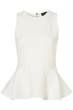 Topshop Panel Peplum Shell Top
