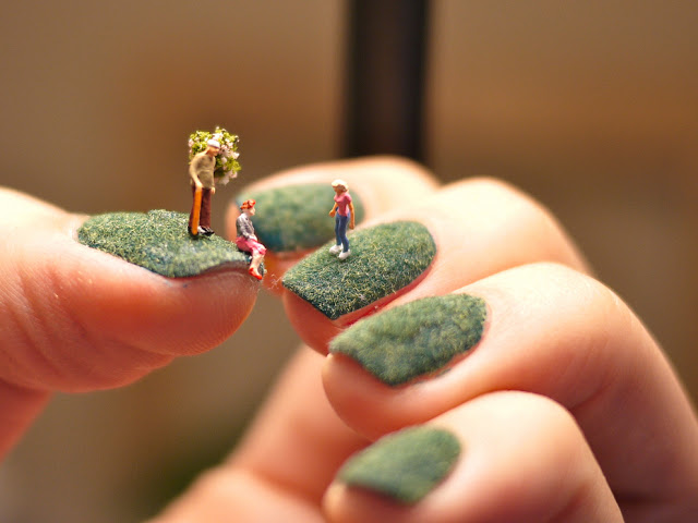 Small People Living On Nails Manicure