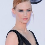 January Jones' Makeup, Hairstyle & Hair Color: 2012 Emmys