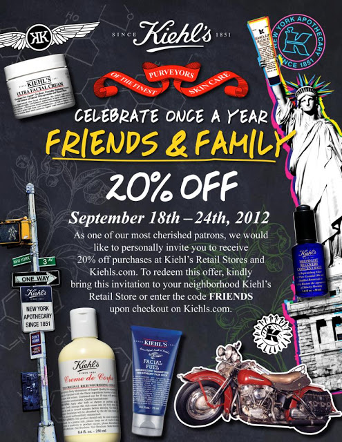 Kiehl's Friends & Family Sale Code