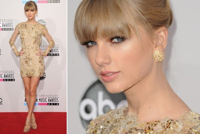 Taylor Swift's Makeup At The American Music Awards 2012