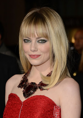 Emma Stone's Hairstyle At The 'Gangster Squad' Premiere In L.A.