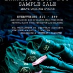 Earnest Sewn Sample Sale