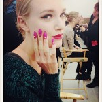 Kate Spade AW 2013 Backstage Beauty: Hair/Makeup/Nails
