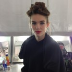 Badgley Mischka Fall 2013: Backstage Beauty