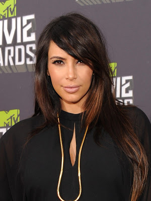 Hairstyle: Kim Kardashian At The MTV Movie Awards 2013