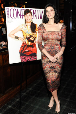 Jessica Pare's Hairstyle At LA Confidential And Samsung Galaxy Present The Magazine's Spring Issue