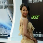 Makeup: Zoe Saldana At 'Star Trek Into Darkness' LA Premiere