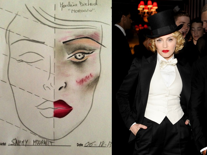 Makeup madonnas mdna tour documentary premiere look was 30s and l u v madonnas makeup for the premere last night of the mdna tour documentary in nyc makeup artist sammy h mourabit used votre vu for the makeup honors voltagebd Image collections