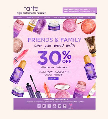 Tarte Cosmetics Friends & Family Sale