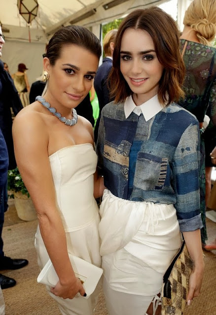 Hairstyle: Lily Collins At The CFDA/Vogue Fashion Fund Event In LA