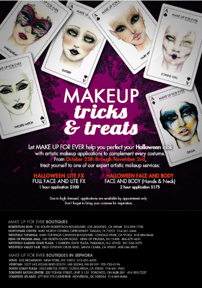 Make Up For Ever\'s Halloween Makeup Services | Rouge 18