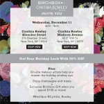 Join Birchbox And Cynthia Rowley For A Shopping Event On December 11