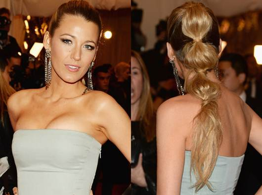 Holiday Hair Inspiration: Blake Lively's Tiered Ponytail