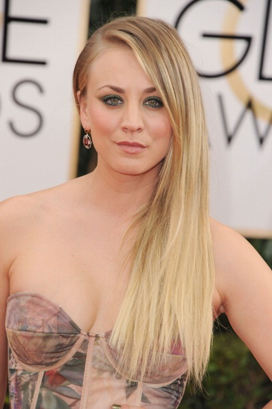 Makeup: Kaley Cuoco At The 2014 Golden Globes