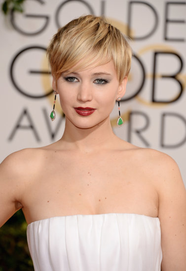 Golden Globes 2014 Makeup: Jennifer Lawrence