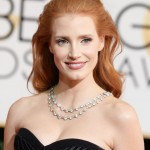 Golden Globes 2014 Hairstyle: Jessica Chastain