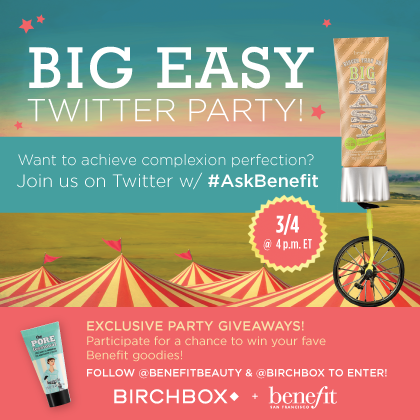 Join Me For a Birchbox & Benefit Cosmetics Twitter Party TODAY at 4pm ET!