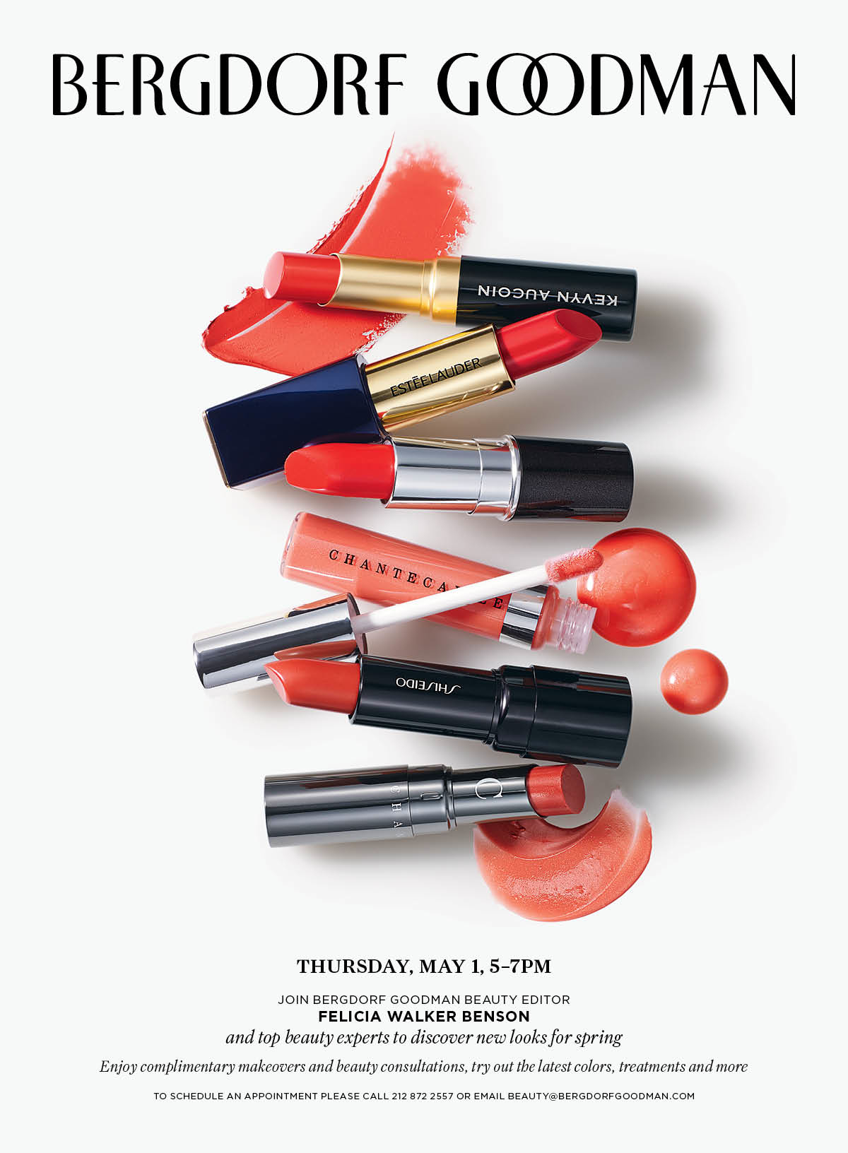 Complimentary Makeovers At Bergdorf Goodman On May 1
