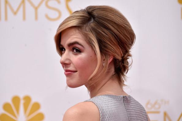 2014 Emmys Hairstyle: Kiernan Shipka's Voluminous Chignon