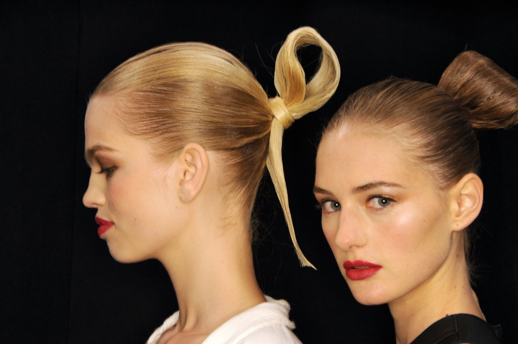 BioSilk Haircare Backstage At Carolina Herrera Spring/Summer 2015