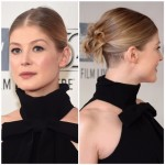 The Secret Multi-Ponytail Trick To Rosamund Pike's Updo At The 'Gone Girl' Premiere