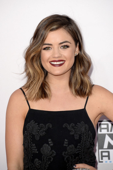 Makeup: Lucy Hale At The 2014 AMAs