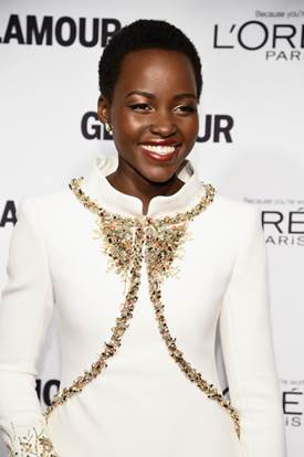 Makeup: Lupita Nyong'o's 2014 Glamour Women Of The Year Awards Look