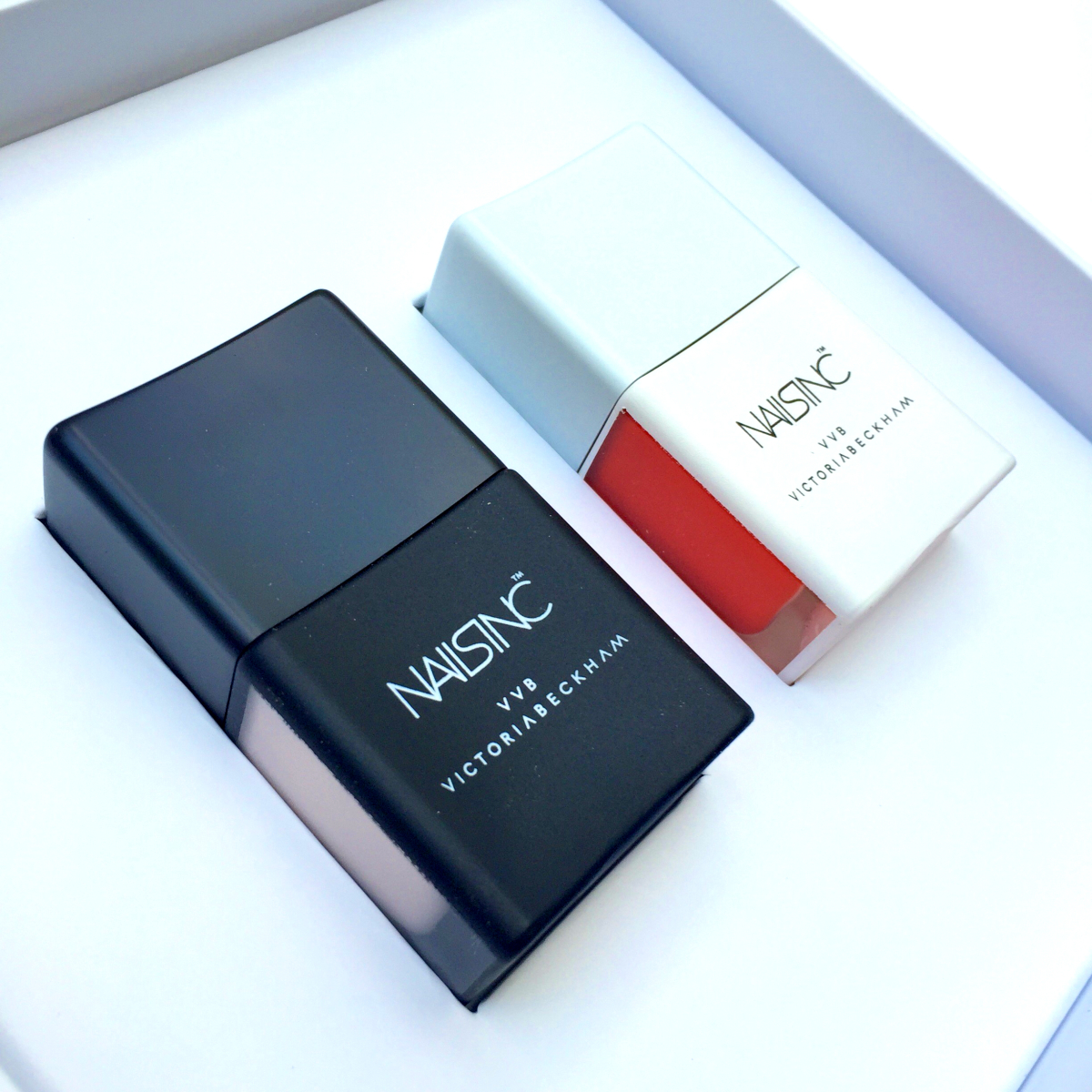 Meet The Tomato Red And Muted Bone Polishes Of Your Dreams: Nails Inc By Victoria, Victoria Beckham
