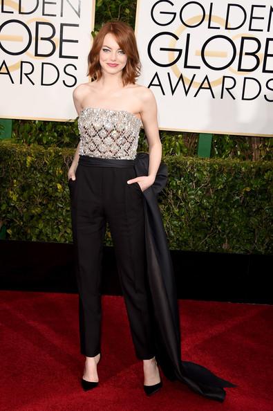 Golden Globes 2015 Makeup: Emma Stone